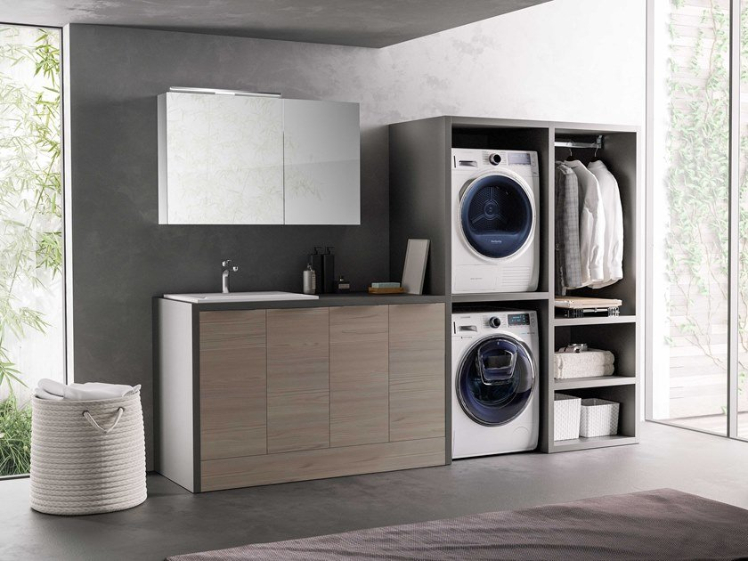 Sectional laundry room cabinet HYD01 | Laundry room cabinet by Mobiltesino