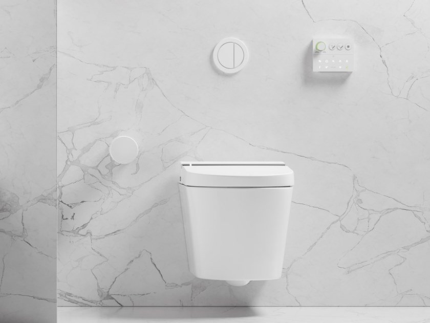 Wall-hung rimless toilet with bidet HYGEA by GALASSIA