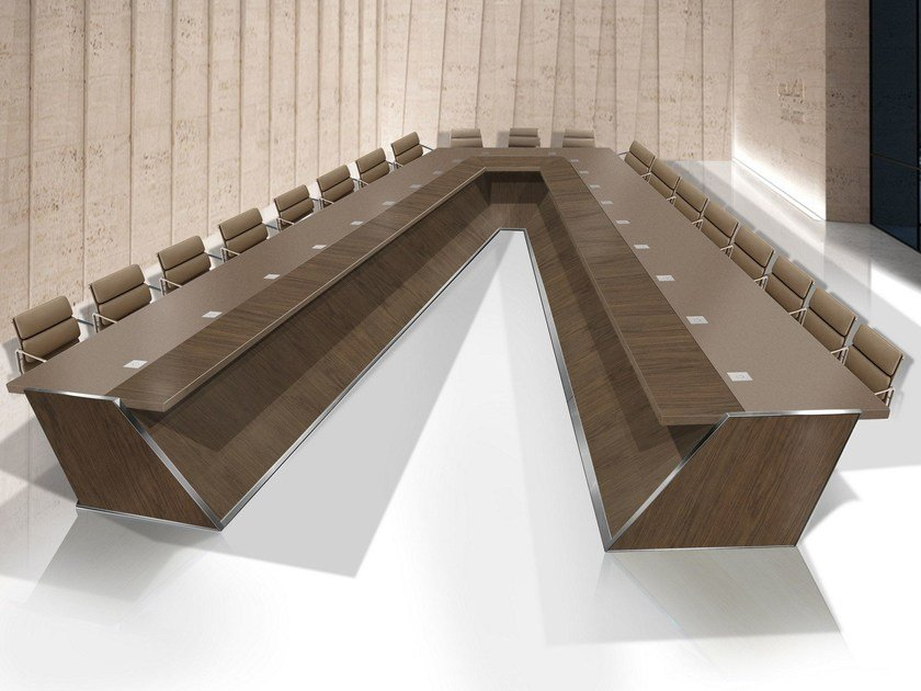 Wooden meeting table HYPOTENUSE by Jose Martinez Medina