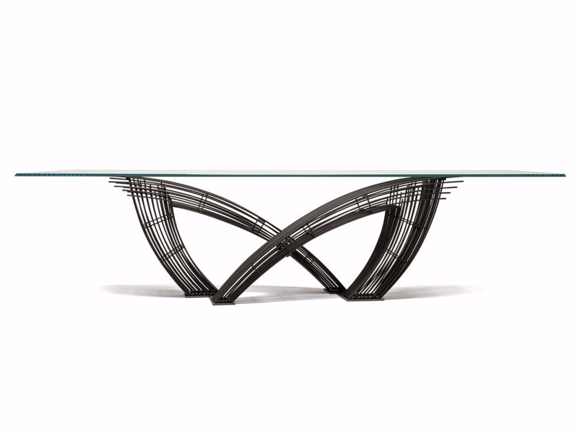 Rectangular crystal table HYSTRIX by Cattelan Italia