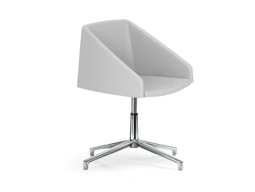Swivel height-adjustable fabric chair with 4-spoke base HYWAY   Chair with 4-spoke base by Quinti Sedute