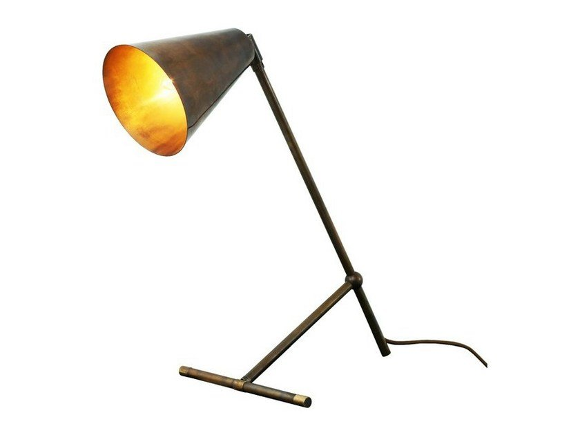 Adjustable brass desk lamp havana modern industrial table lamp by mullan lighting