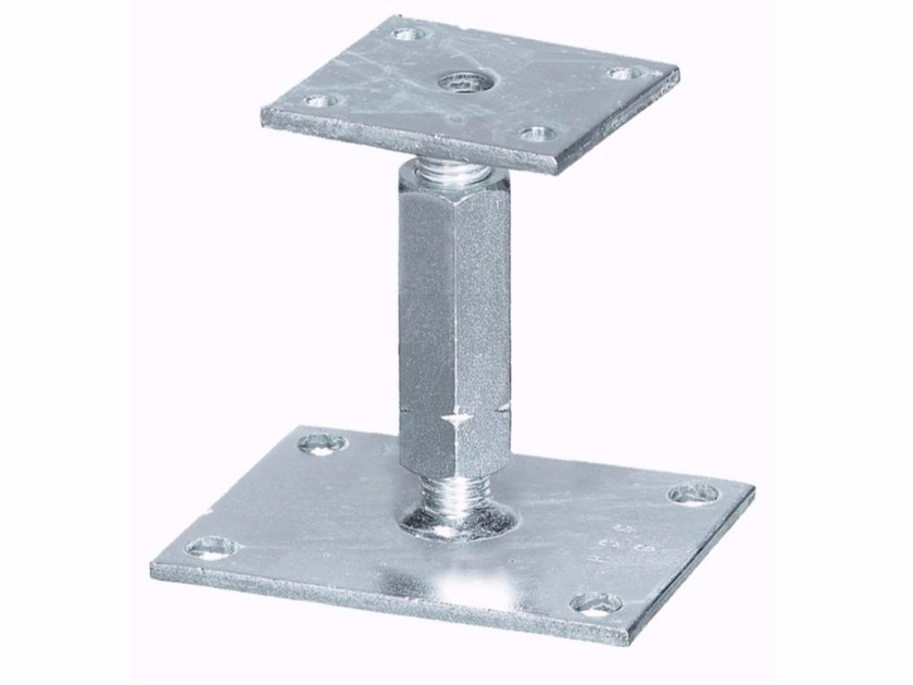 Galvanized steel Hardware for timber structures Height-adjustable support by Unifix SWG