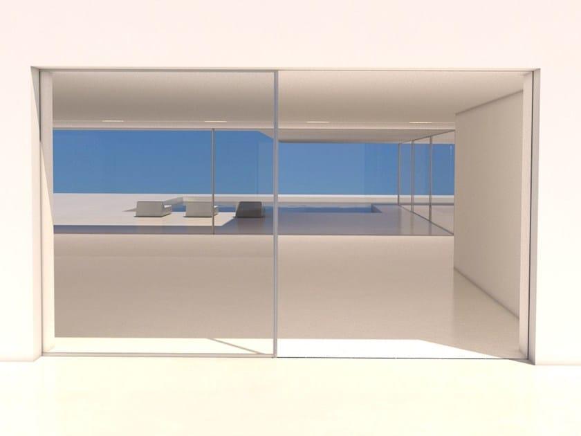 Aluminium pocket sliding window system Horizontal sliding pocket by OTIIMA