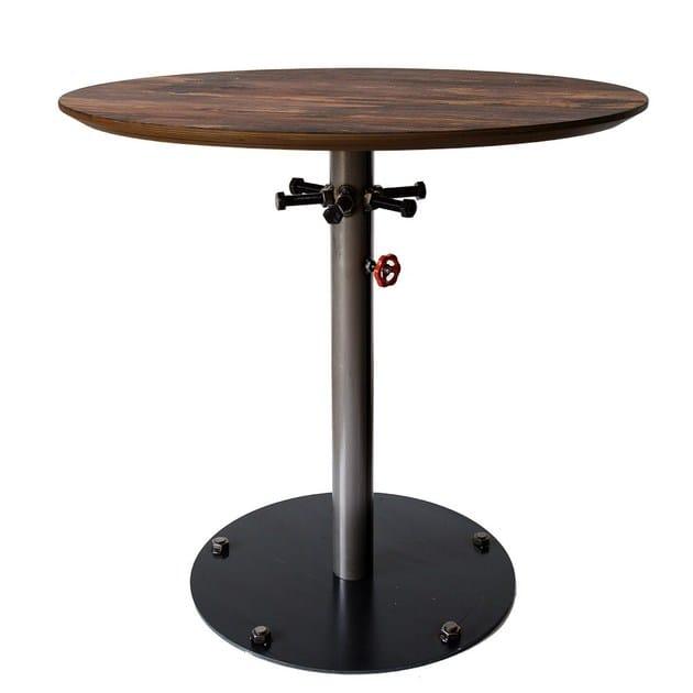 Contemporary style round steel contract table Hydro by Vela Arredamenti
