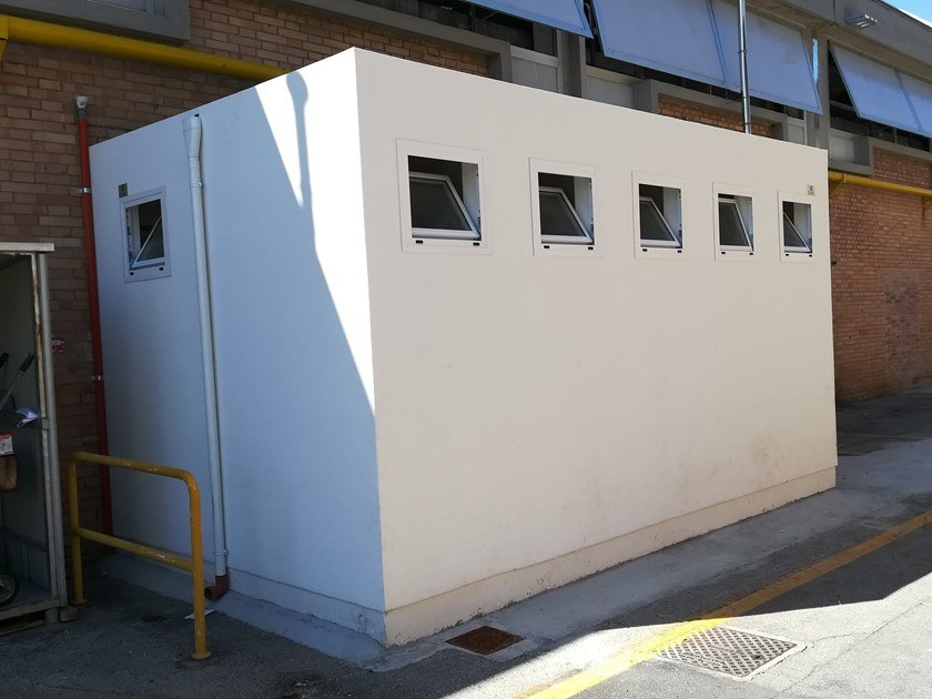 2 functions cement Prefabricated toilet I-17(01) | Prefabricated toilet by Emmecinque Monoblocchi
