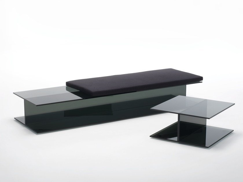 Crystal bench I-BEAM | Bench seating by Glas Italia