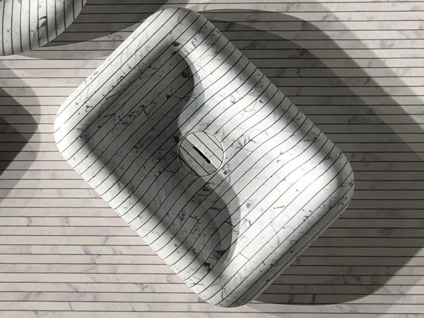 Countertop rectangular Carrara marble washbasin I GESSATI   Rectangular washbasin by Antonio Lupi Design