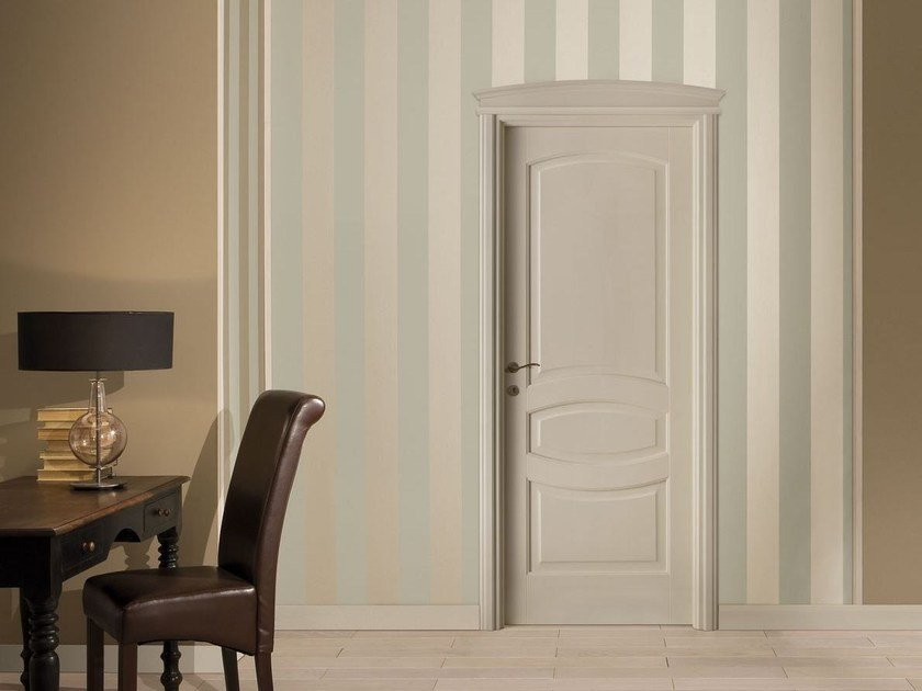 Hinged lacquered solid wood door I LACCATI by LEGNOFORM
