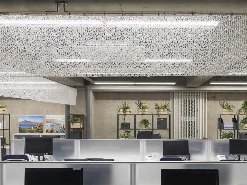 Soffitto teso in fibra minerale I-MESH® CEILING by i-Mesh