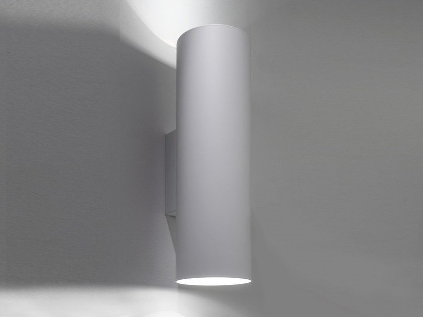 LED aluminium wall lamp with dimmer I-PIPEDI A2 | Direct-indirect light wall lamp by LUCIFERO'S