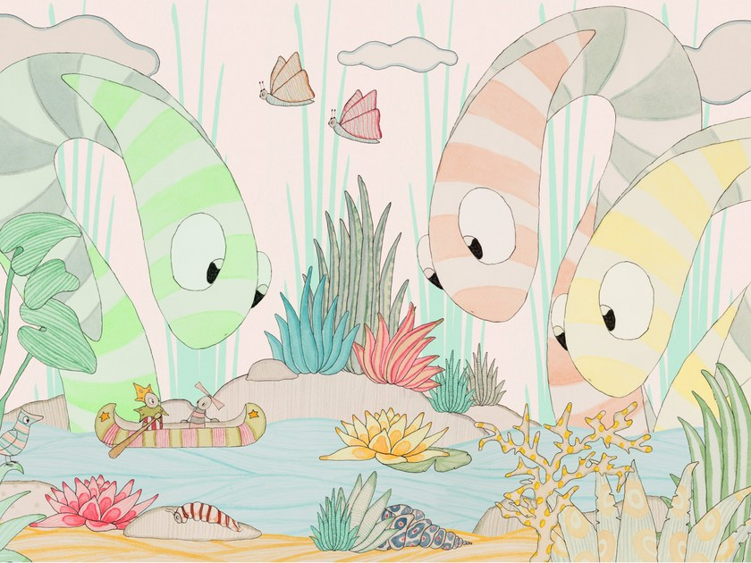 Kids wallpaper I TRE SERPENTI by Wallpepper