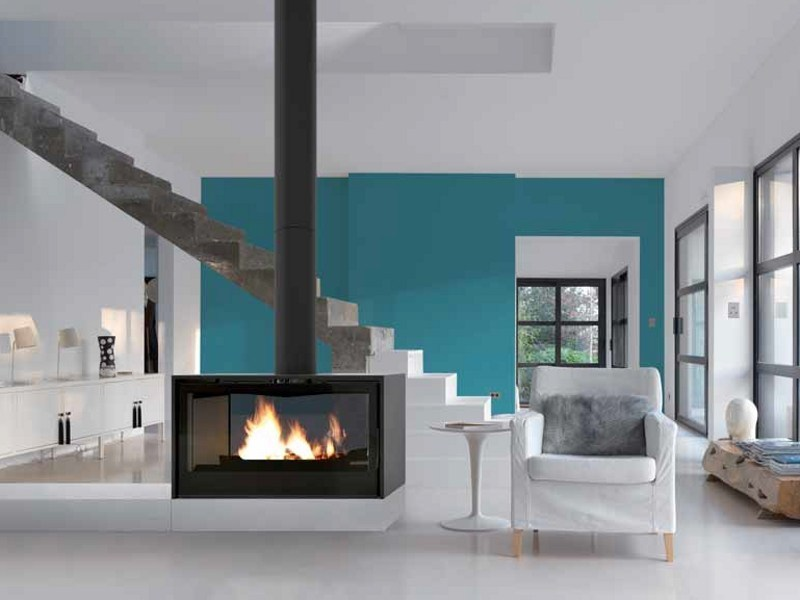 Wood-burning Central stove I1000PDF - DOUBLE FACE by Axis