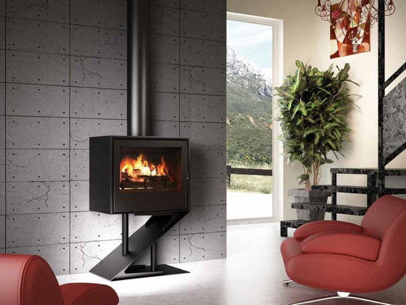 Wood-burning stove I700P - SOCLE Z by Axis