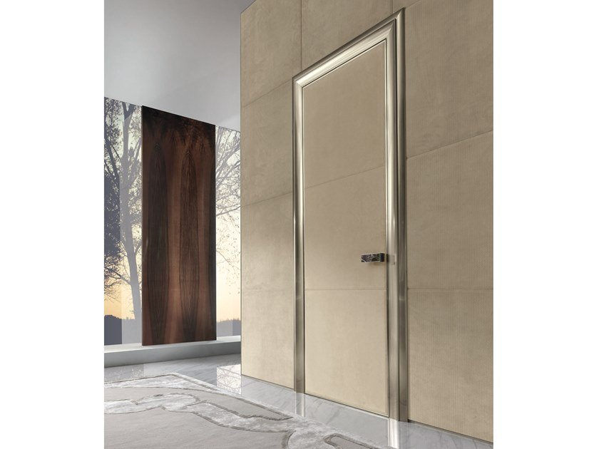 Hinged leather door IANUS | Leather door by Longhi