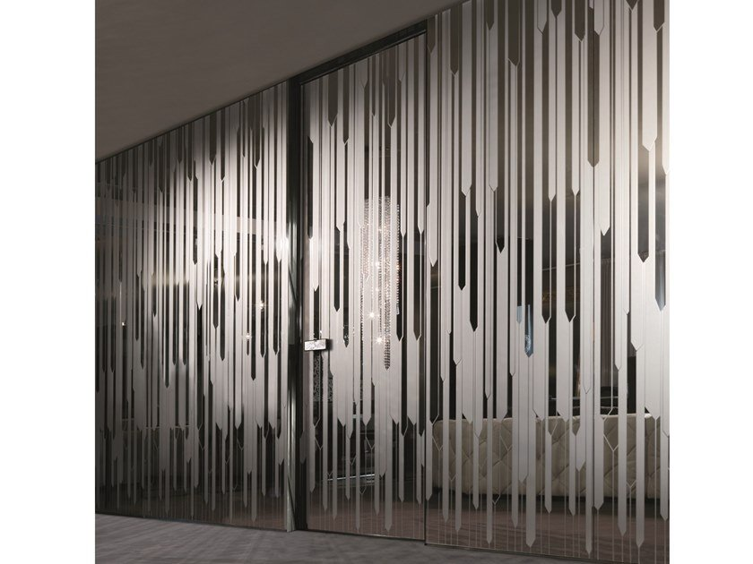 Hinged mirrored glass door IANUS | Mirrored glass door by Longhi