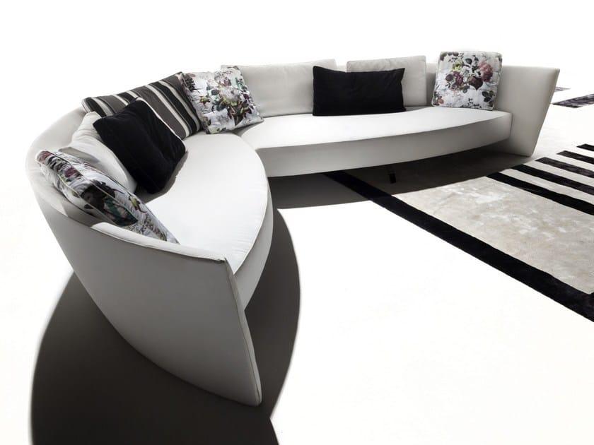 Sectional fabric sofa IBIZA by ERBA ITALIA