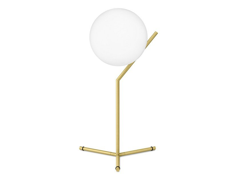 Brass table lamp with dimmer IC LIGHTS T1 by FLOS