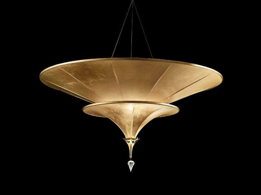 Silk pendant lamp ICARO 2 TIERS by Fortuny