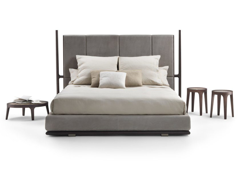 Bed with upholstered headboard ICARO | Bed by Mood by Flexform