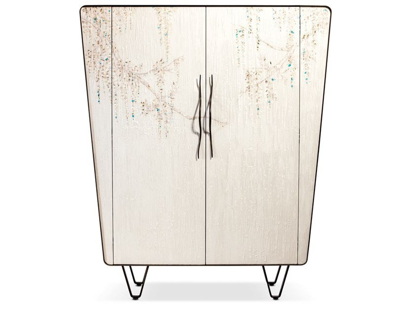 Wooden highboard with doors ICARO | Highboard by Cantori