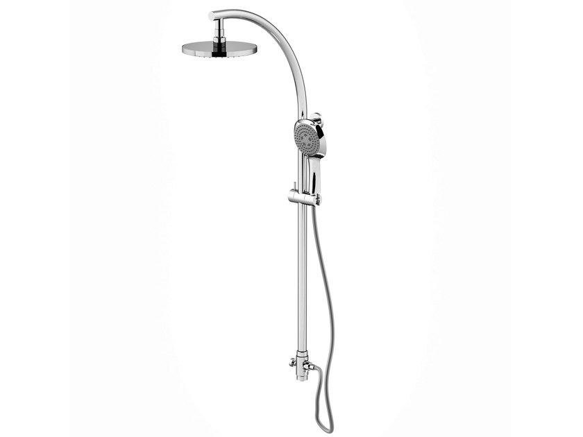 Wall-mounted shower panel with hand shower with overhead shower ICARUS | Shower panel by Gattoni Rubinetteria