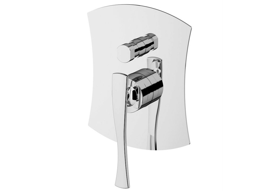Shower mixer with diverter with plate ICARUS | Shower mixer with diverter by Gattoni Rubinetteria