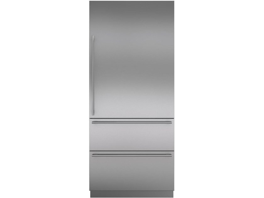 Built-in stainless steel refrigerator with water dispenser Class A + ICBIT-36CIID | Combi refrigerator by Sub-Zero
