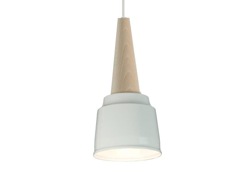 Wooden pendant lamp ICE CREAM by LUZ EVA