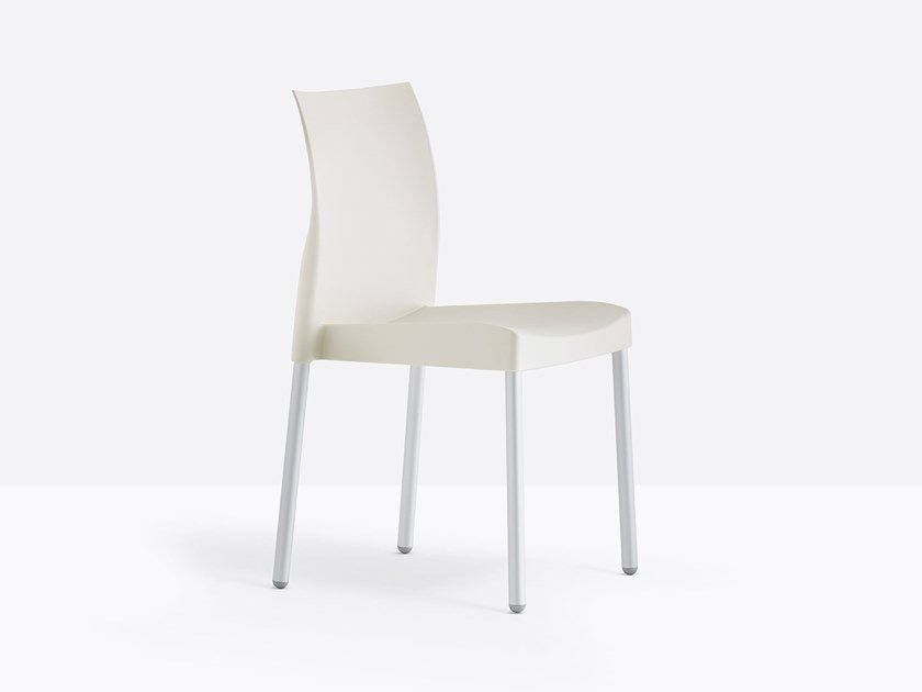 Stackable polypropylene chair ICE 800 by Pedrali