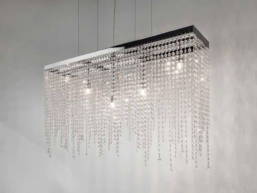Metal pendant lamp with Swarovski® Crystals ICE FALL H5 by ILFARI