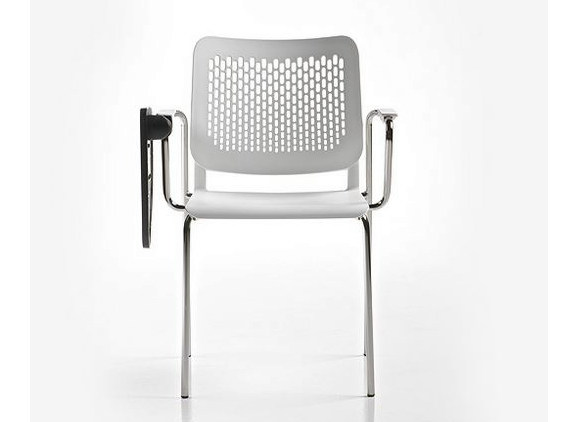 Polypropylene training chair with armrests ICE | Training chair with writing tablet by Diemme