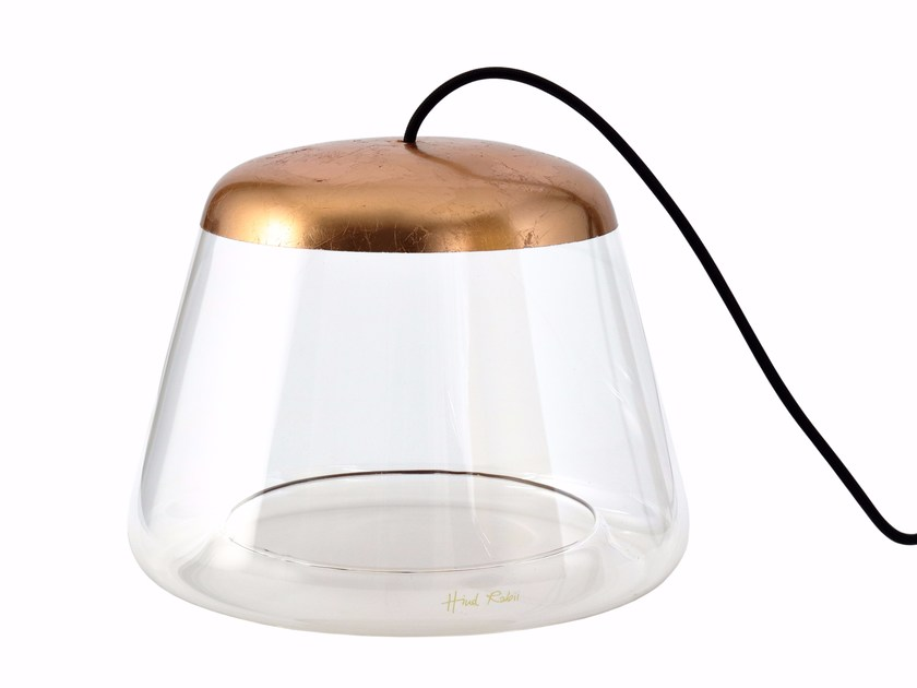 Direct light glass table lamp ICE-TB1500 COPPER by Hind Rabii