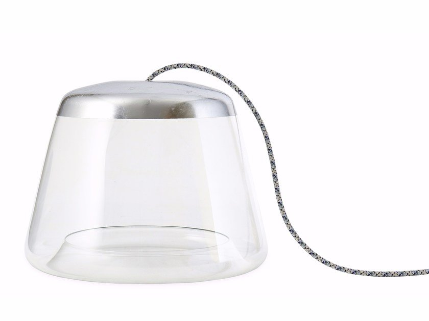 Direct light glass table lamp ICE-TB1500 SILVER by Hind Rabii