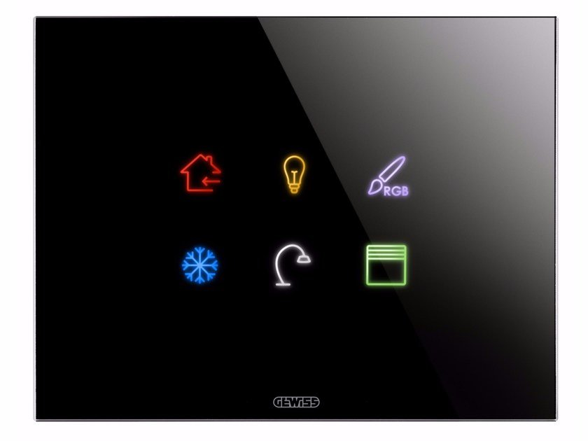 Contemporary style glass wiring accessories ICE TOUCH KNX by GEWISS
