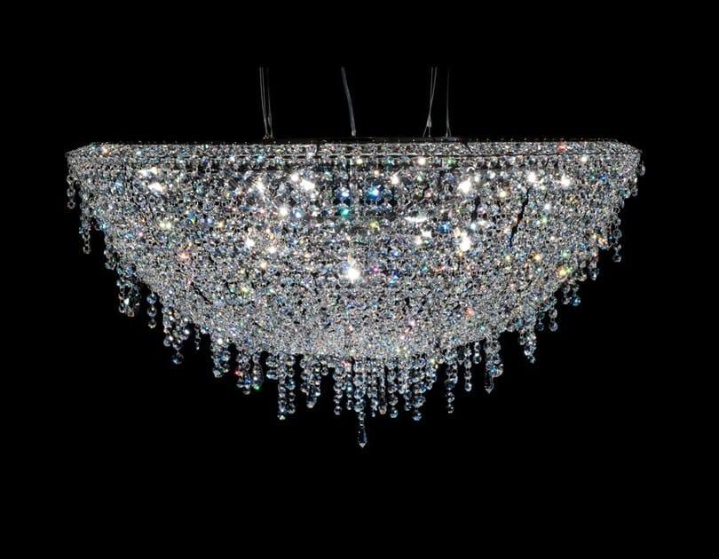 Lampada a sospensione alogena in cristallo ICEBERG | Lampada a sospensione in cristallo by Manooi