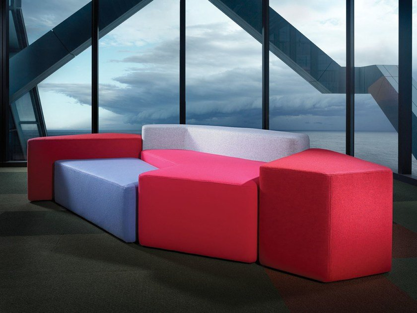Sectional modular fabric sofa ICEBERG | Sectional sofa by Derlot Editions