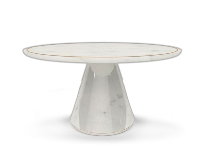 Round dining table ICELAND | Dining table by Duquesa & Malvada