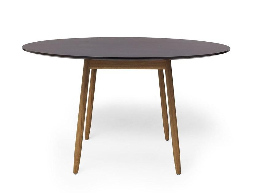 round diningconference table with desktop linoleum icha round table by massproductions