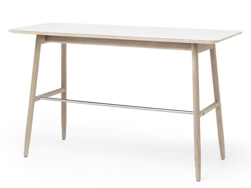 Compact desk with desktop linoleum ICHA | Writing desk by Massproductions