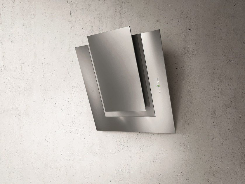 Wall-mounted Glass and Stainless Steel cooker hood ICO by Elica
