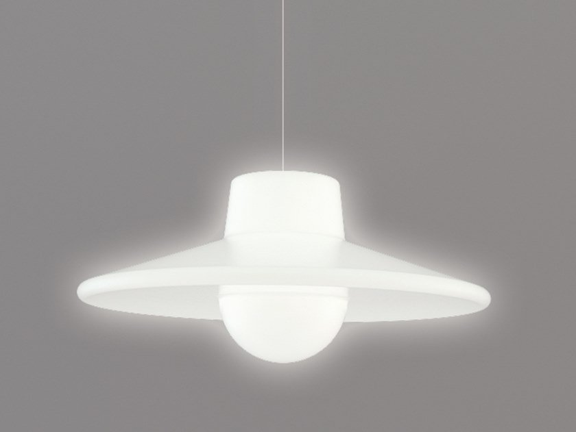 Polyethylene pendant lamp ICO by SLIDE