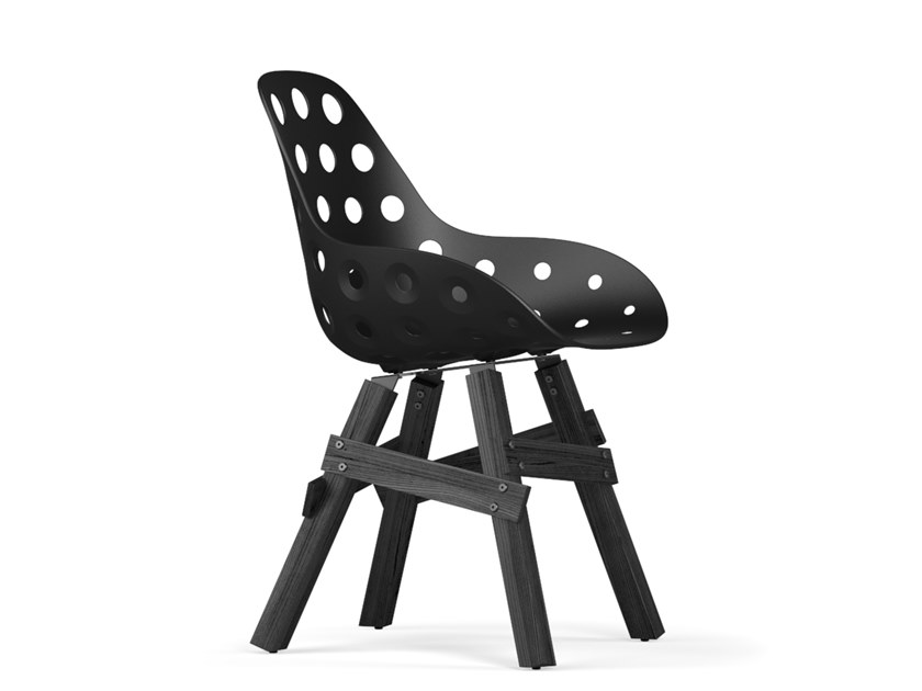 Polypropylene chair ICON DIMPLE by KUBIKOFF