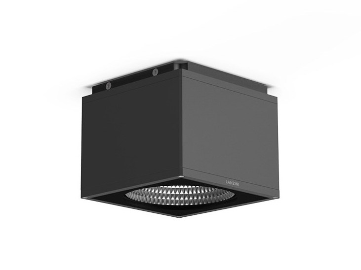LED aluminium ceiling light ICON Q PLA by LANZINI