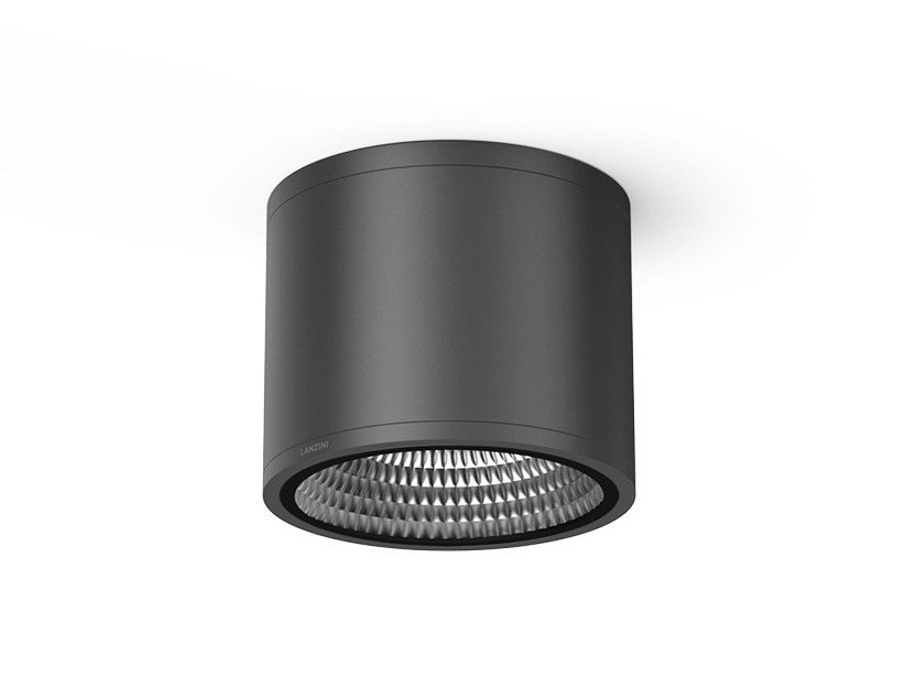 LED aluminium ceiling light ICON T PLA by LANZINI