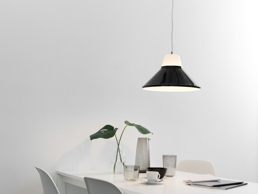 Glass and steel pendant lamp ICON by TEO