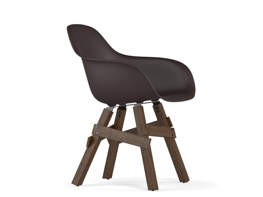 Polypropylene chair with armrests ICON V9 | Chair with armrests by KUBIKOFF