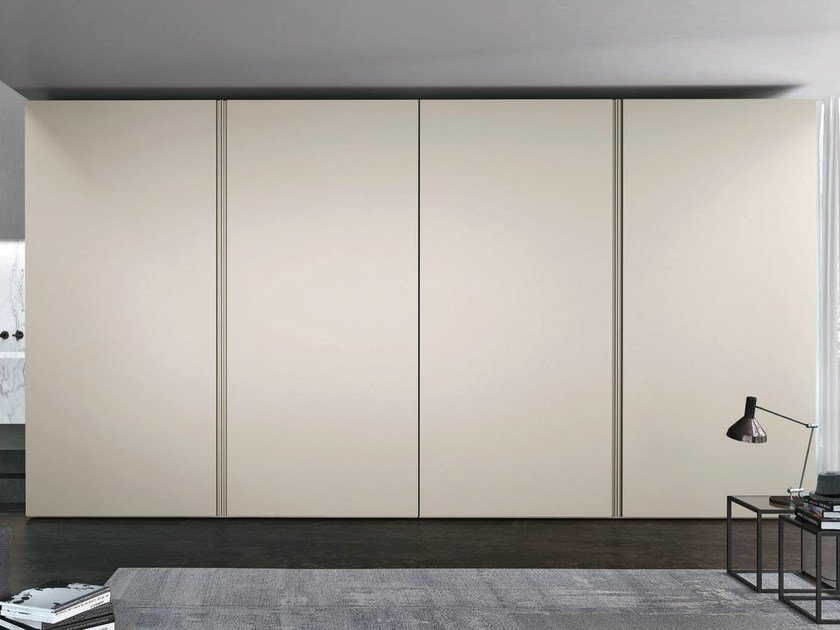 Lacquered wardrobe with coplanar doors ICONA | Wardrobe with coplanar doors by JESSE