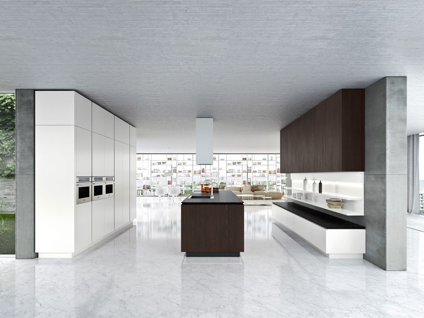 Style Custom Fitted Kitchen With Island Idea Kitchen With Island By Snaidero  With Snaidero.