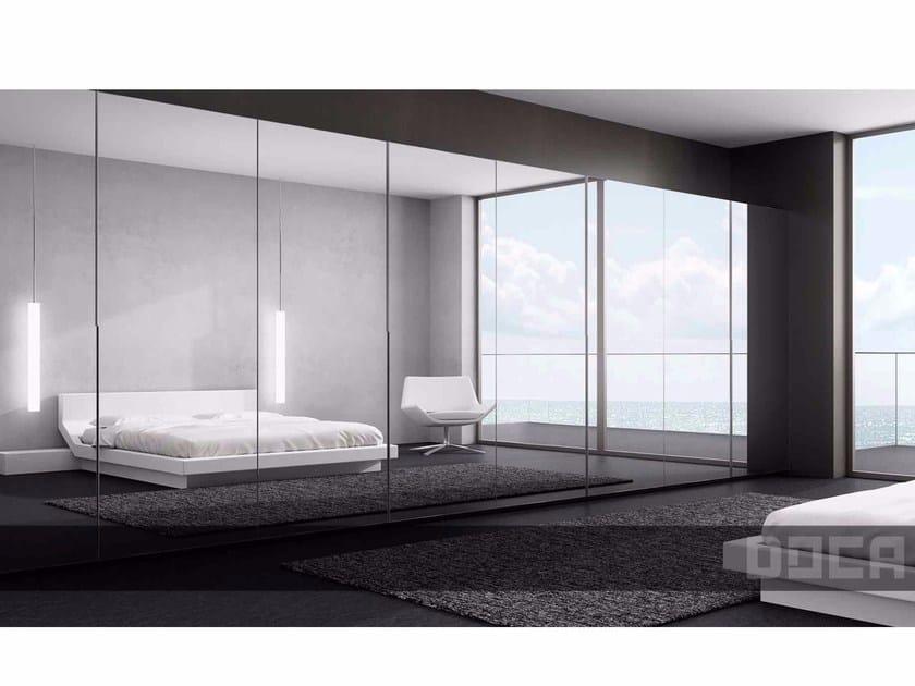 Mirrored glass wardrobe with sliding doors IDECO ESPEJO by Doca